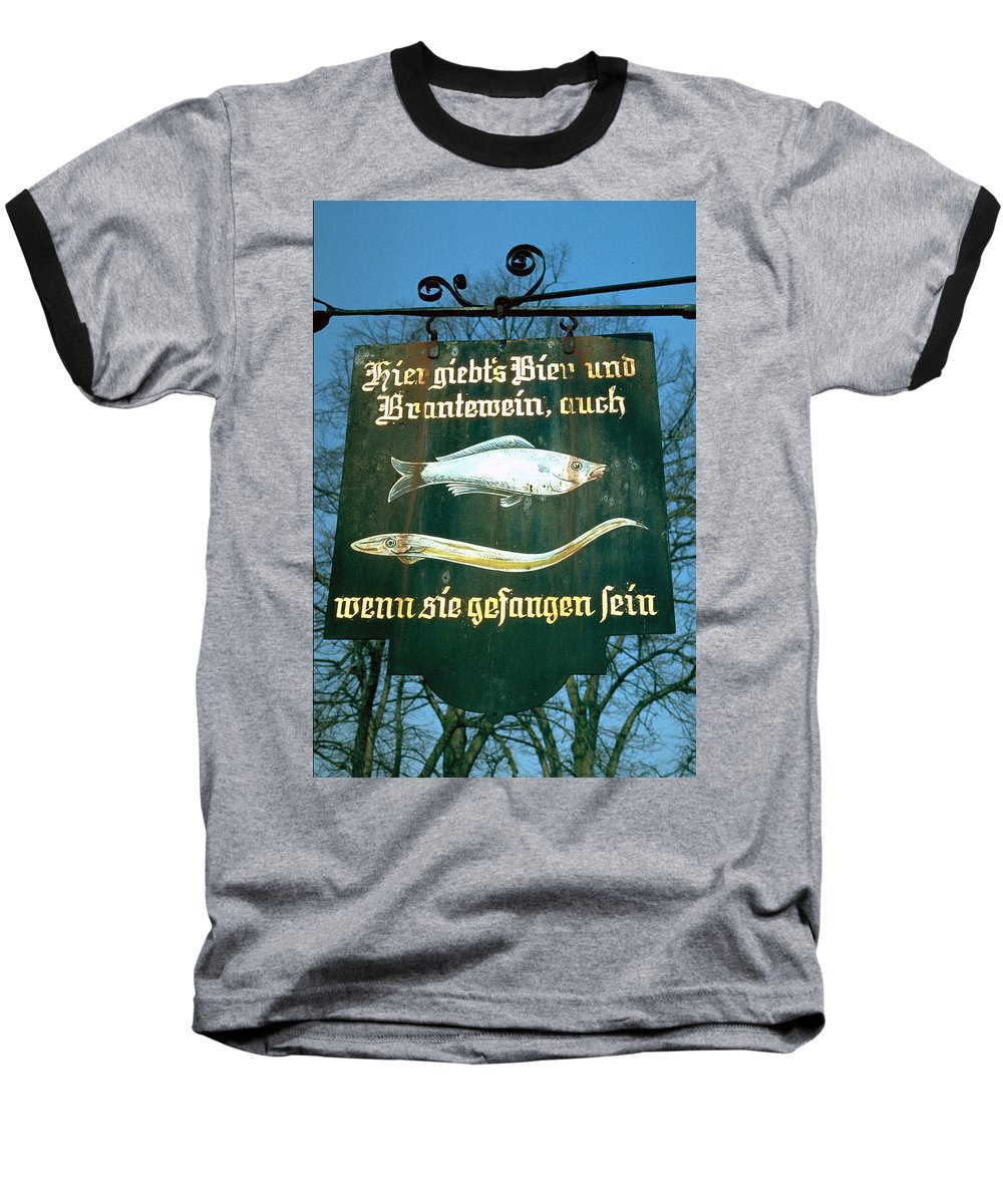 Store Sign Baseball T-Shirt featuring the photograph Fish by Flavia Westerwelle