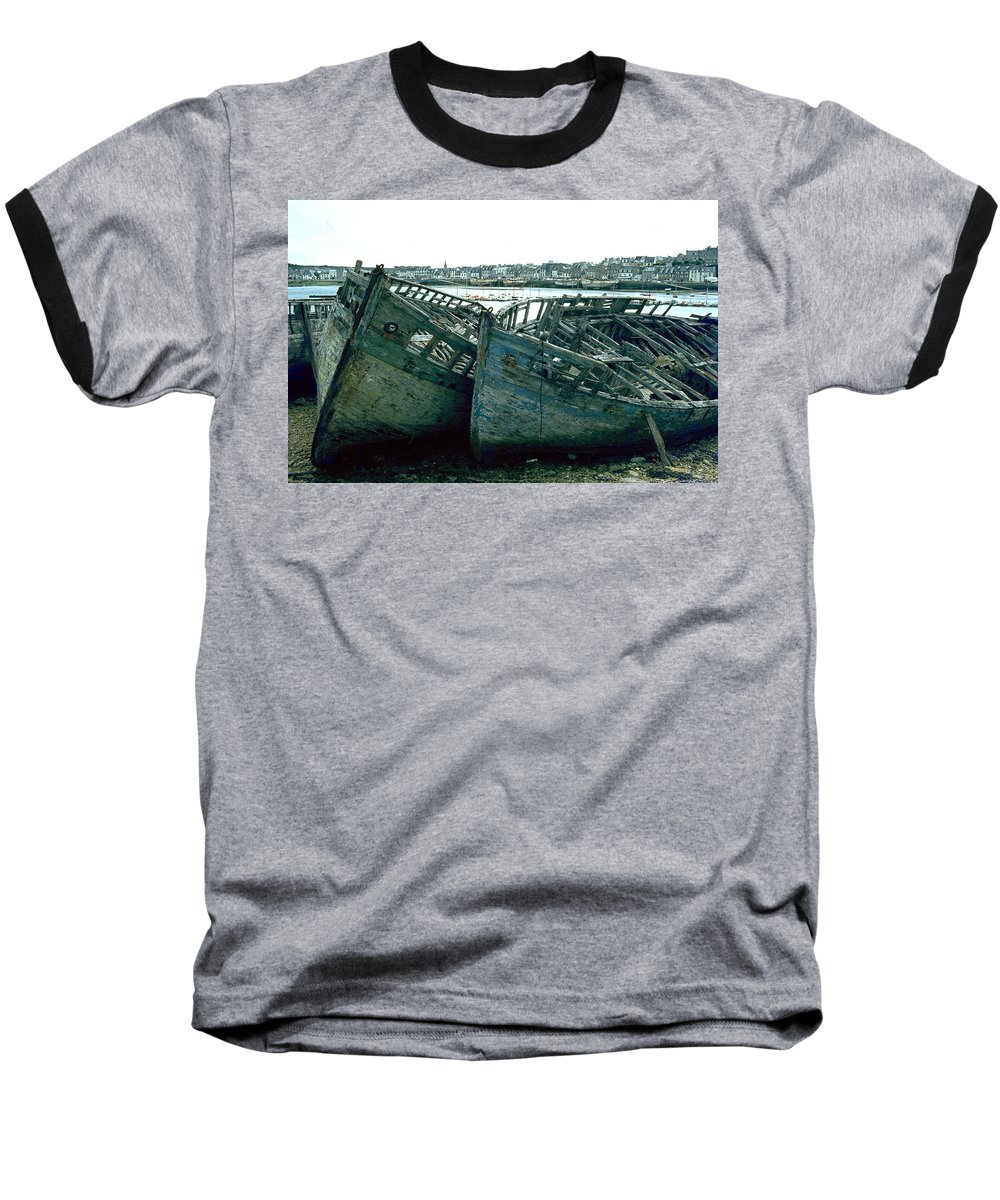 Fisher Boats Baseball T-Shirt featuring the photograph Fisher Boats by Flavia Westerwelle