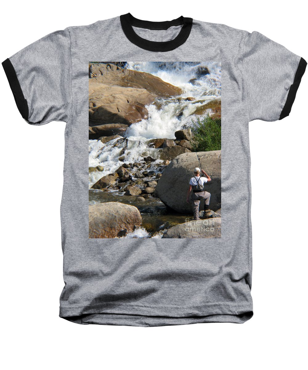 Fishing Baseball T-Shirt featuring the photograph Fishing Anyone by Amanda Barcon