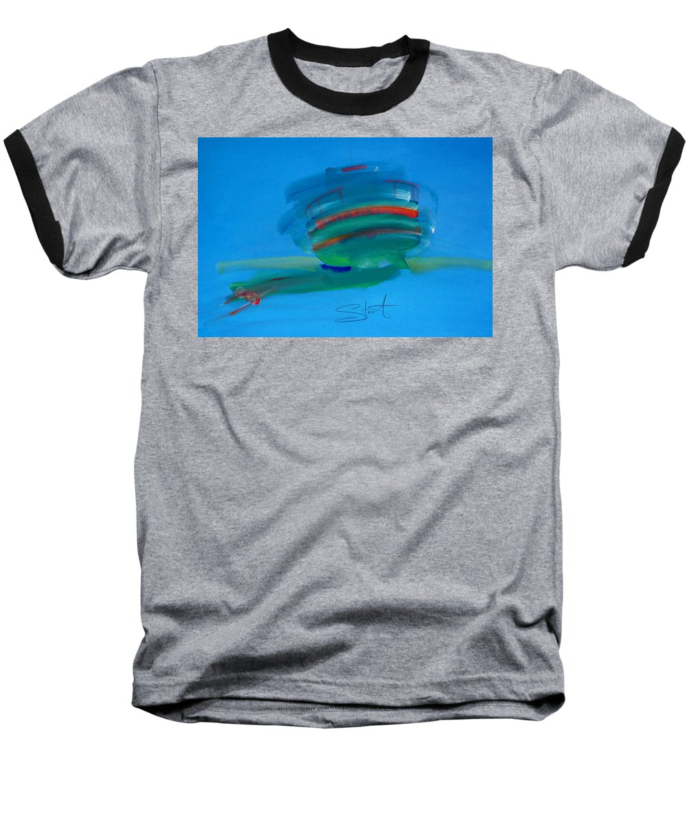 Fishing Boat Baseball T-Shirt featuring the painting Fishing Boat Hastings by Charles Stuart