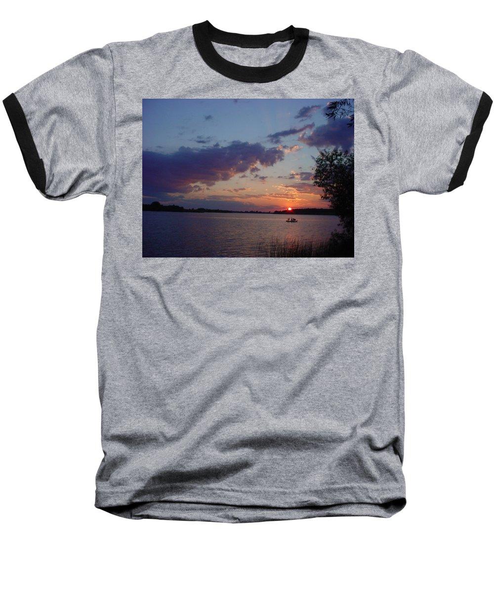 St.lawrence River Baseball T-Shirt featuring the photograph Fishing On The St.lawrence River. by Jerrold Carton