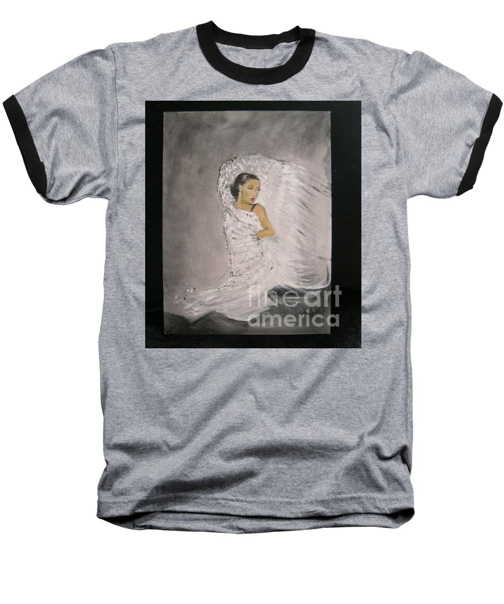 Spain Baseball T-Shirt featuring the painting Flamenco by Lizzy Forrester