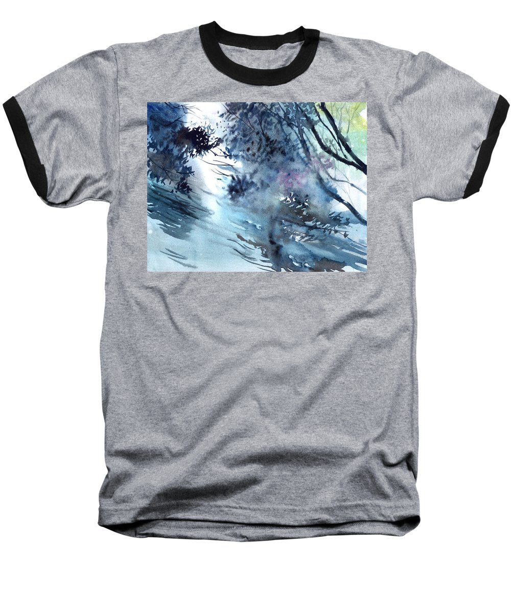 Floods Baseball T-Shirt featuring the painting Flooding by Anil Nene
