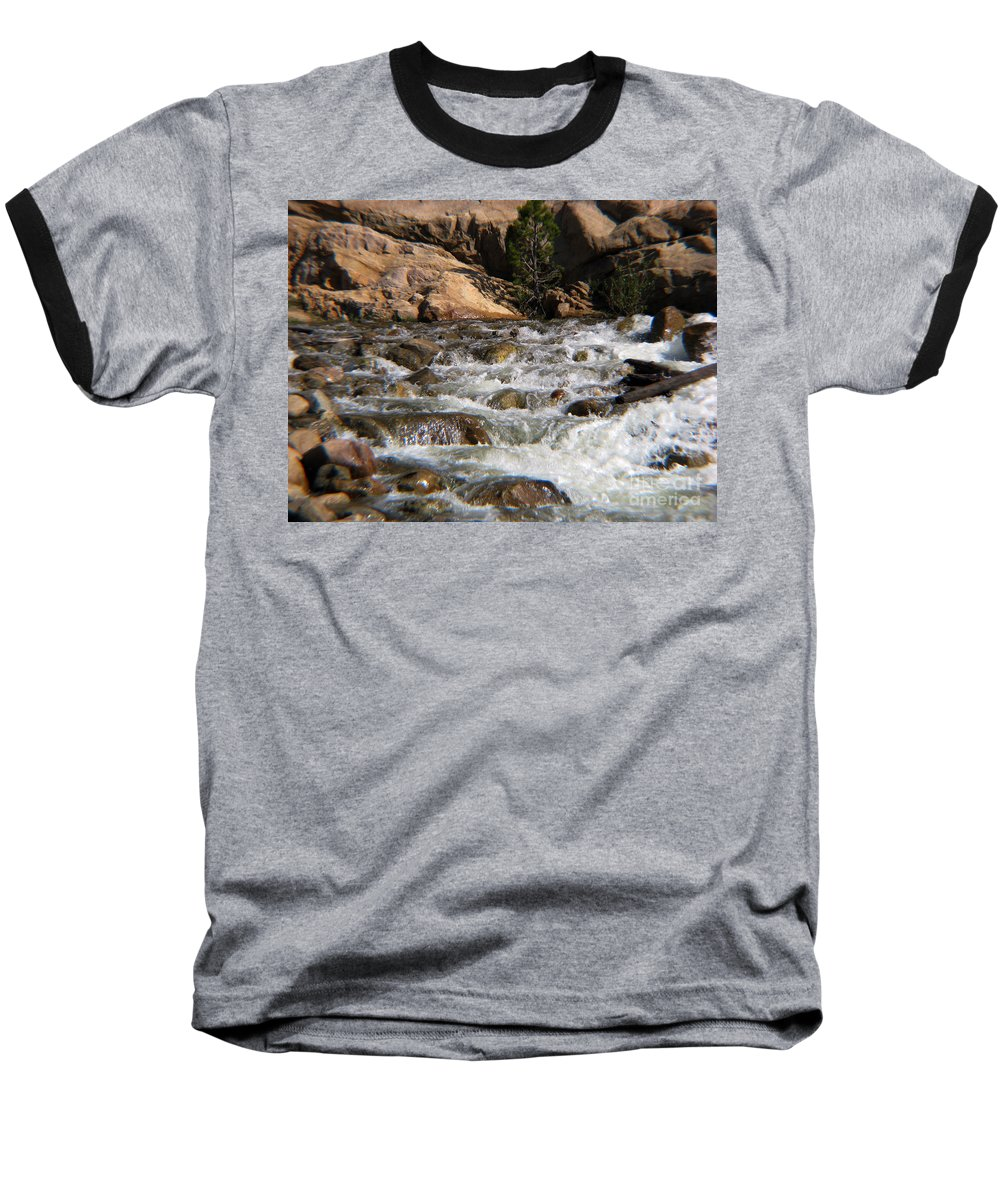 River Baseball T-Shirt featuring the photograph Flow by Amanda Barcon