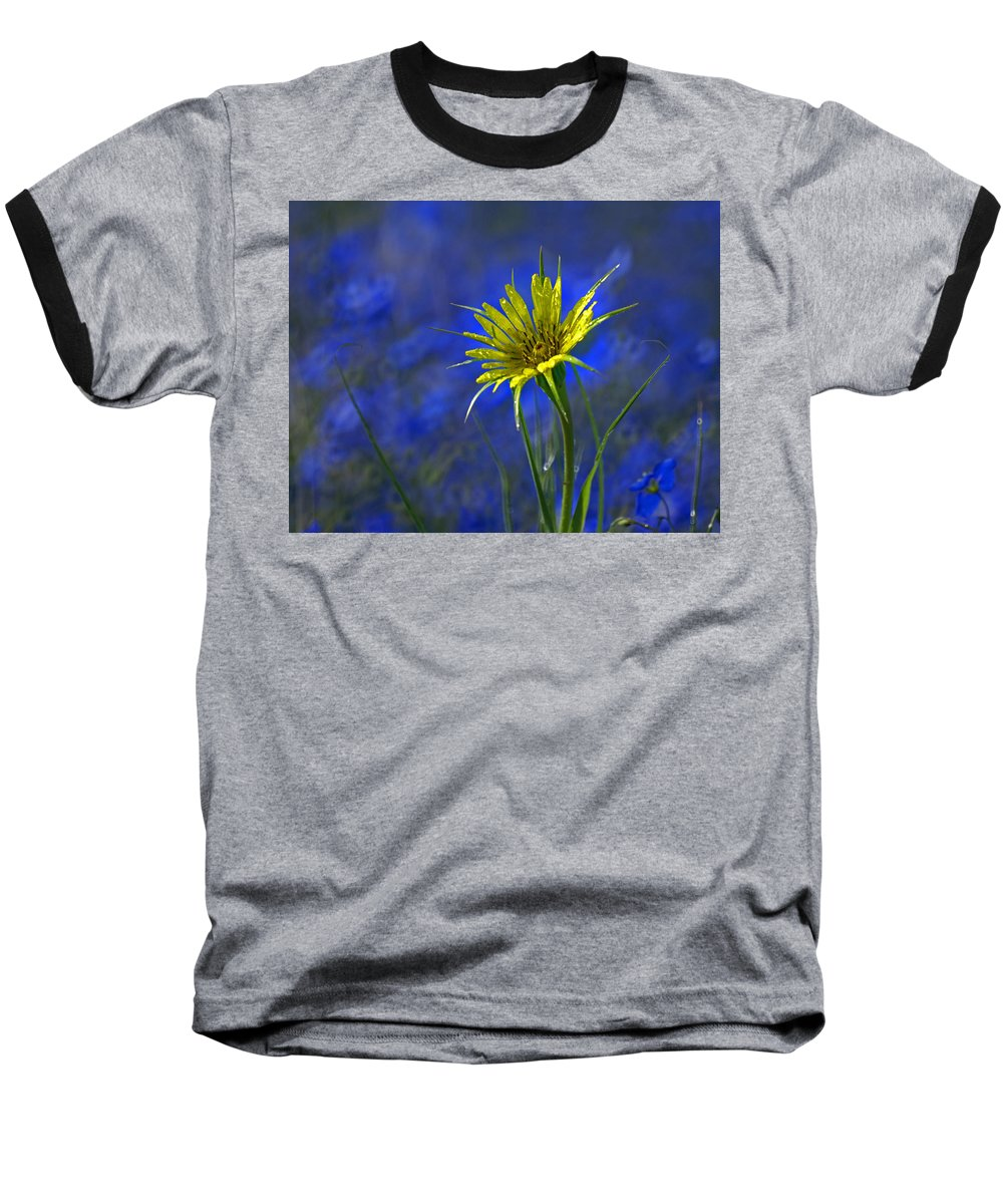 Flower Baseball T-Shirt featuring the photograph Flower And Flax by Heather Coen