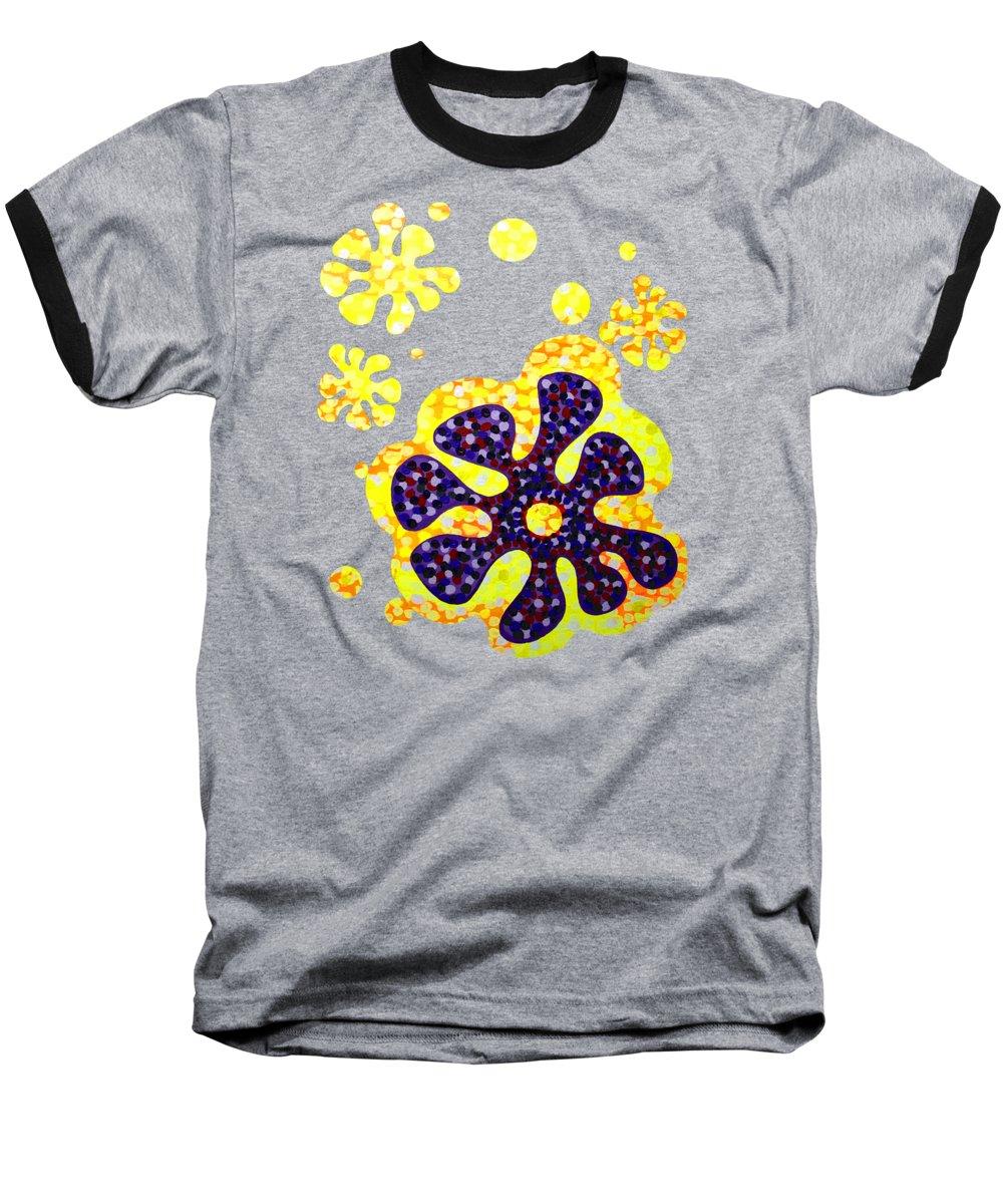 Acrylic Baseball T-Shirt featuring the painting Flower For Rafa by Alan Hogan