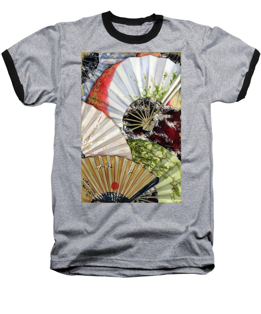 Japanese Baseball T-Shirt featuring the painting Flower Garden by Hiroko Sakai