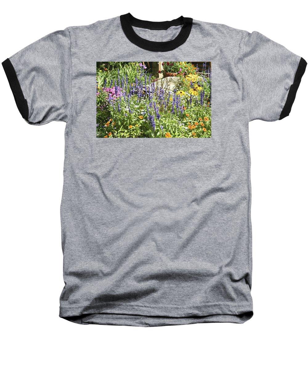 Flower Baseball T-Shirt featuring the photograph Flower Garden by Margie Wildblood