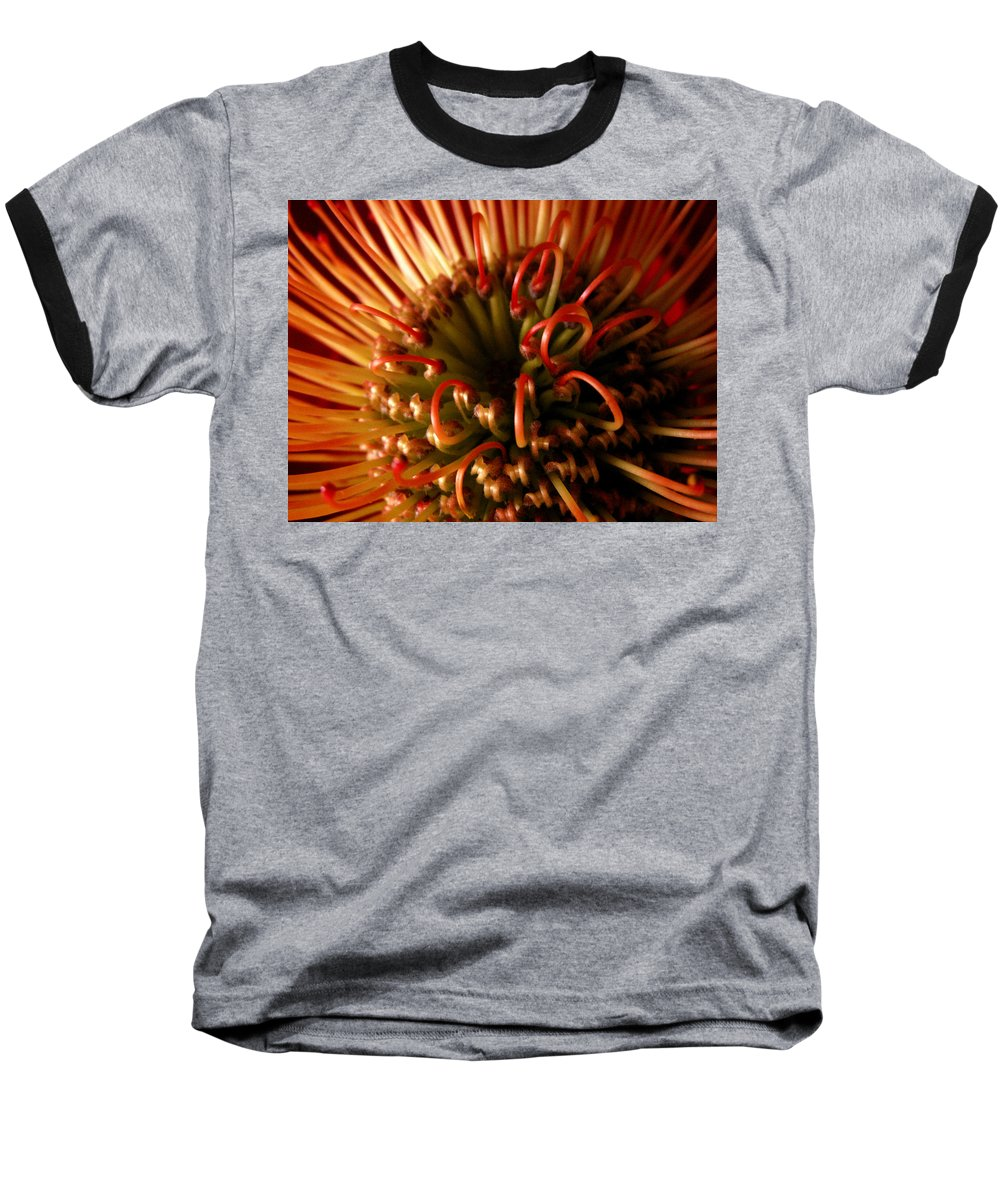 Protea Baseball T-Shirt featuring the photograph Flower Hawaiian Protea by Nancy Griswold