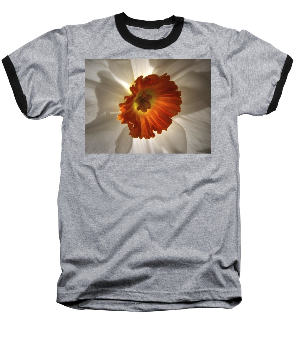 Flowers Baseball T-Shirt featuring the photograph Flower Narcissus by Nancy Griswold