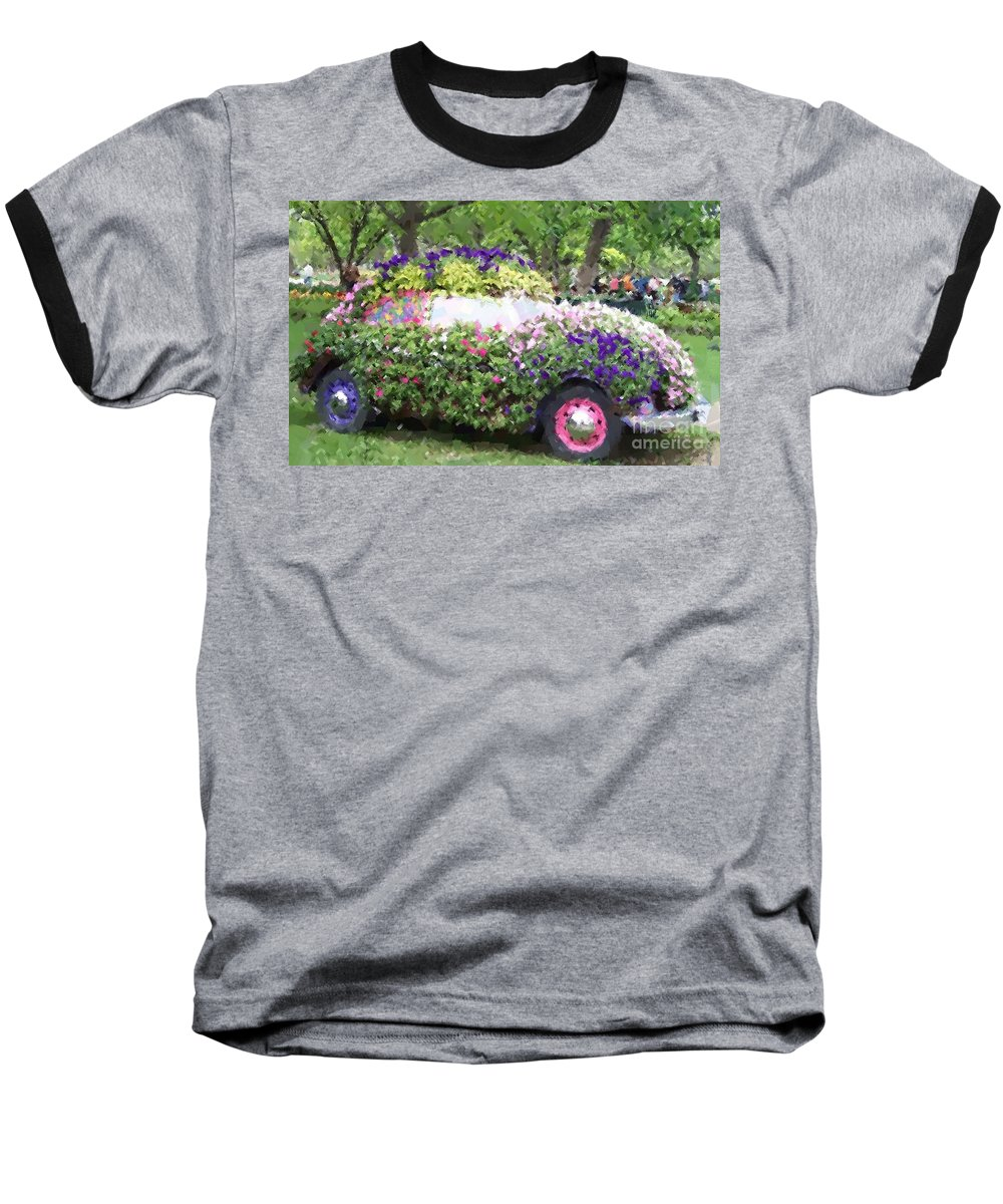 Cars Baseball T-Shirt featuring the photograph Flower Power by Debbi Granruth