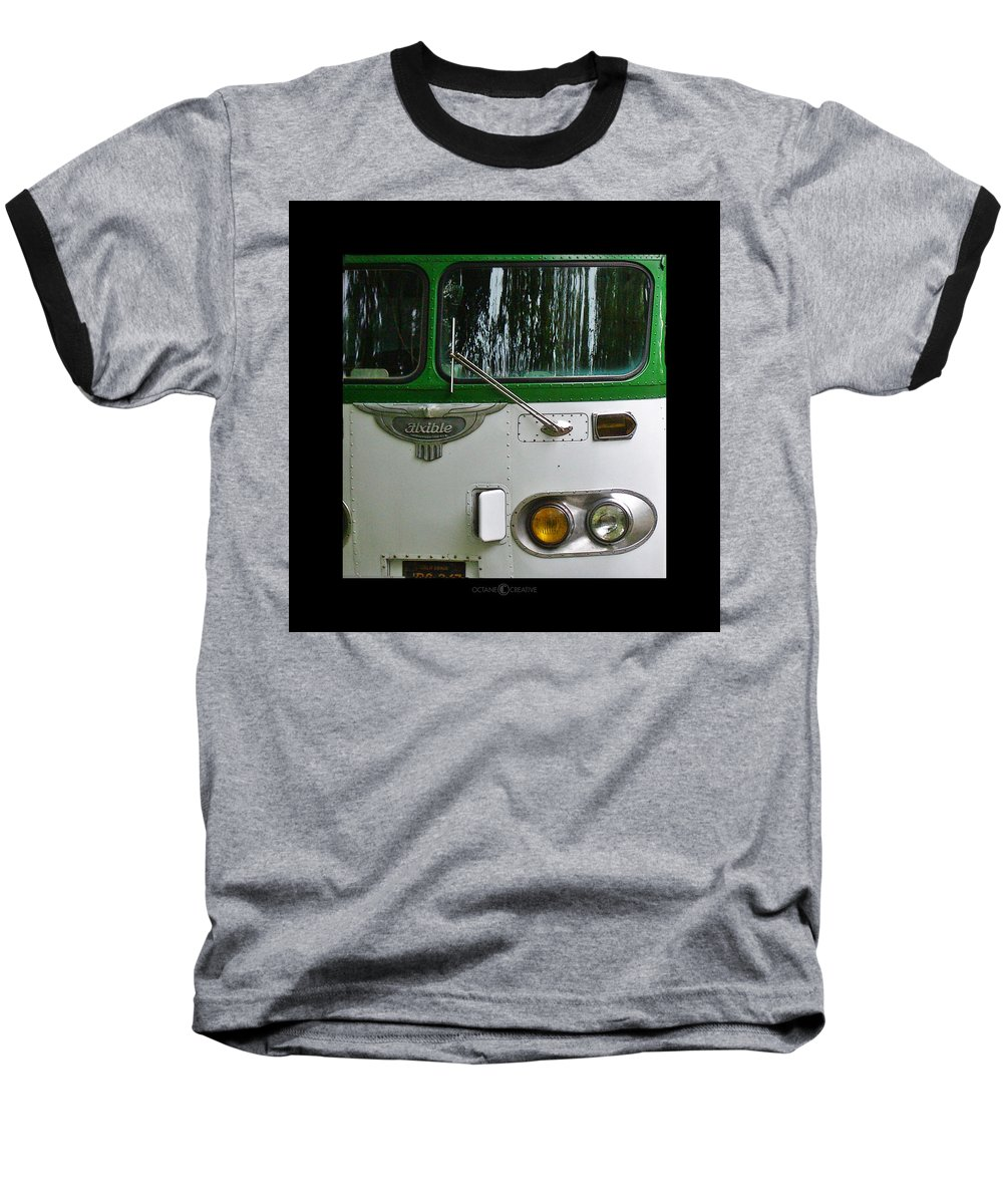 Flxible Baseball T-Shirt featuring the photograph Flxible by Tim Nyberg