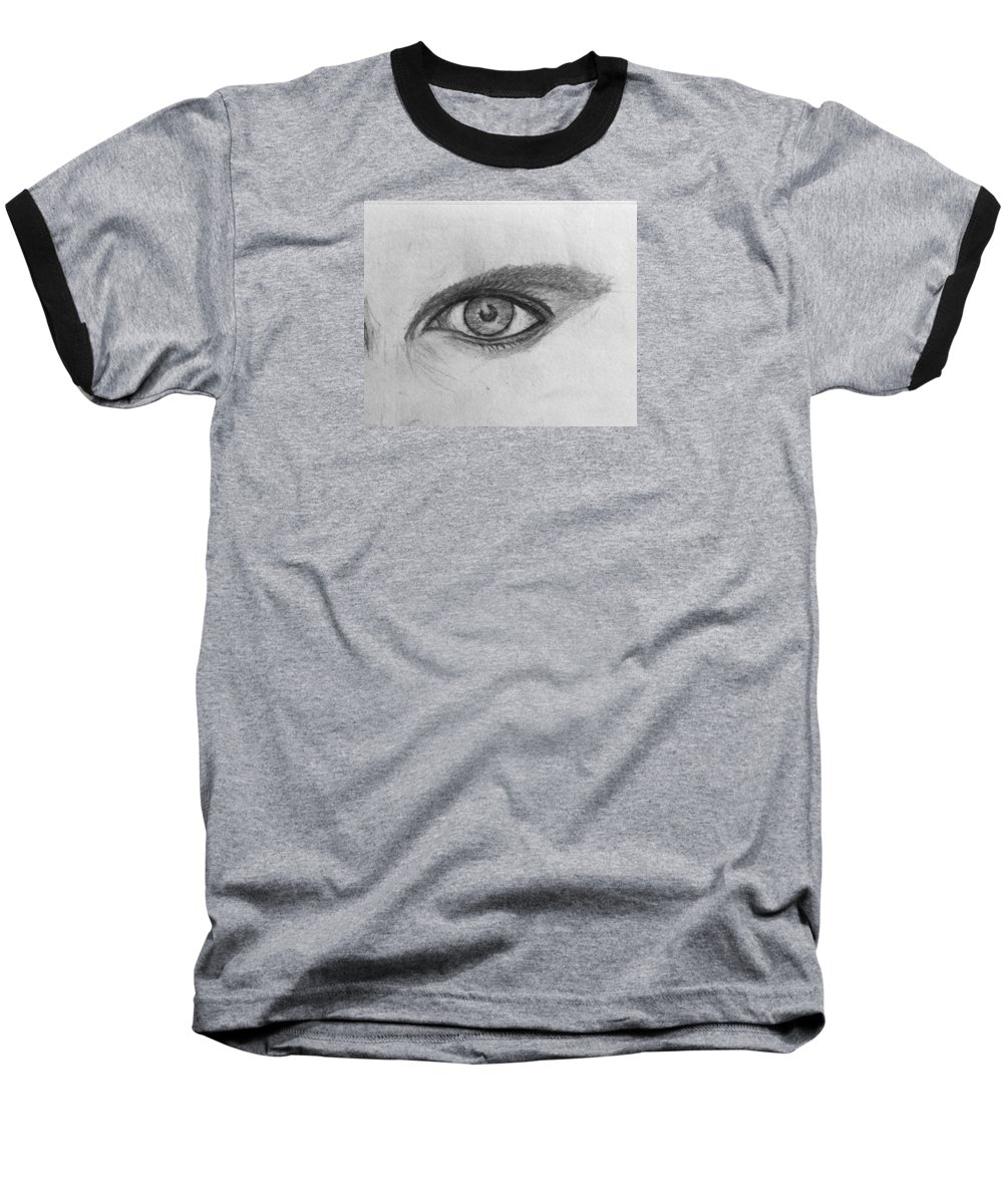 Pencil Framed Prints Baseball T-Shirt featuring the drawing Focus On The Good by Paul Carter