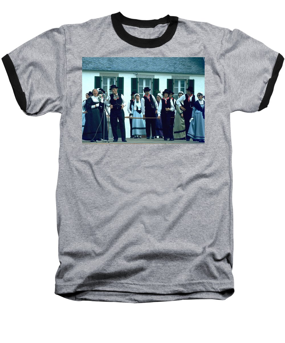 Tradition Baseball T-Shirt featuring the photograph Folk Music by Flavia Westerwelle