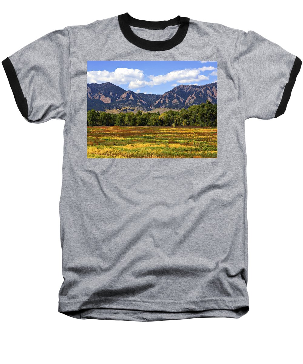 Fall Baseball T-Shirt featuring the photograph Foothills Of Colorado by Marilyn Hunt