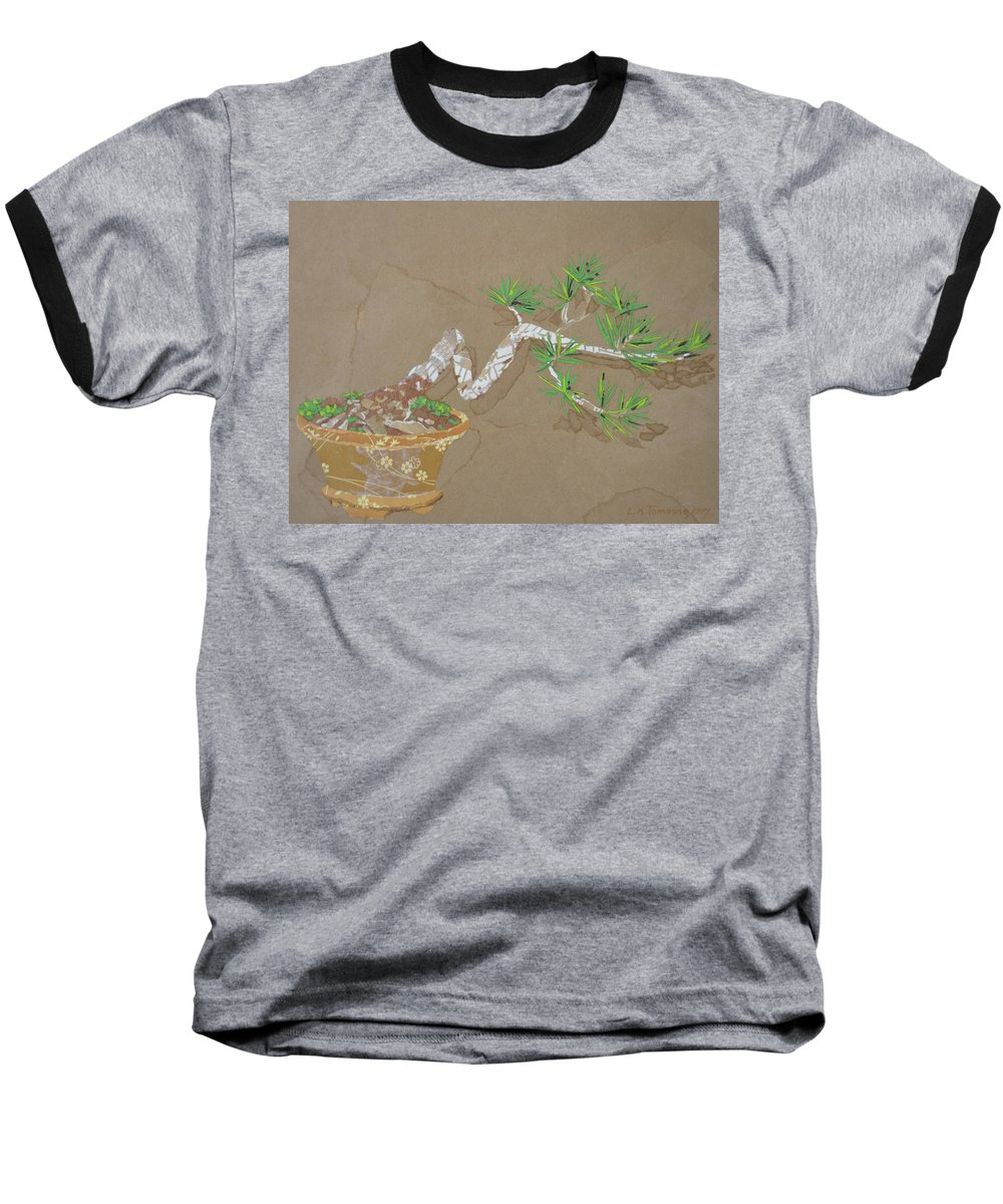 Banzai Tree Baseball T-Shirt featuring the painting For Inge by Leah Tomaino
