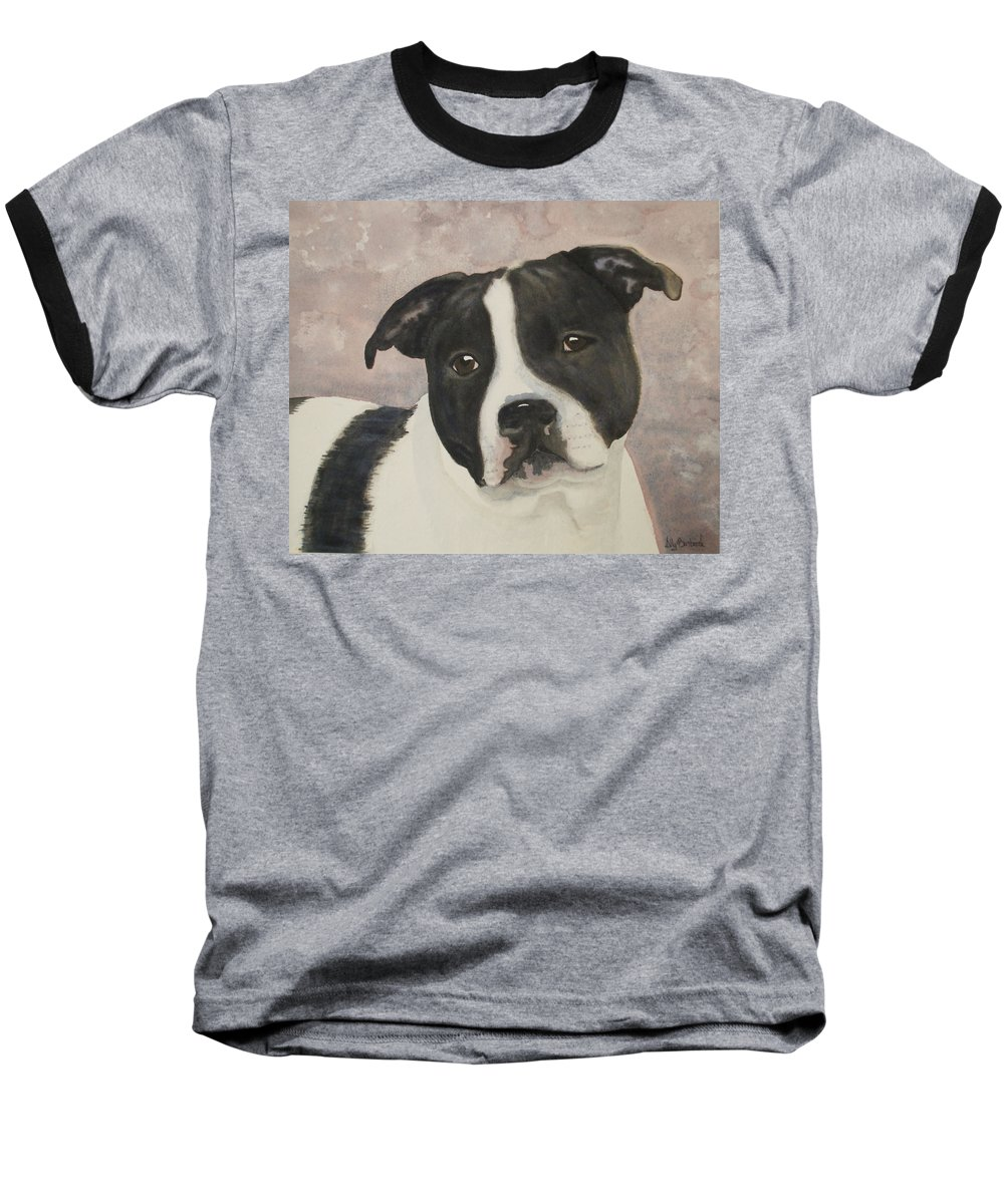 Dog Baseball T-Shirt featuring the painting For Me by Ally Benbrook