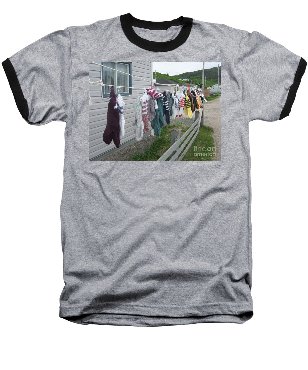 Knitted Socks Newfoundland Baseball T-Shirt featuring the photograph For Sale by Seon-Jeong Kim