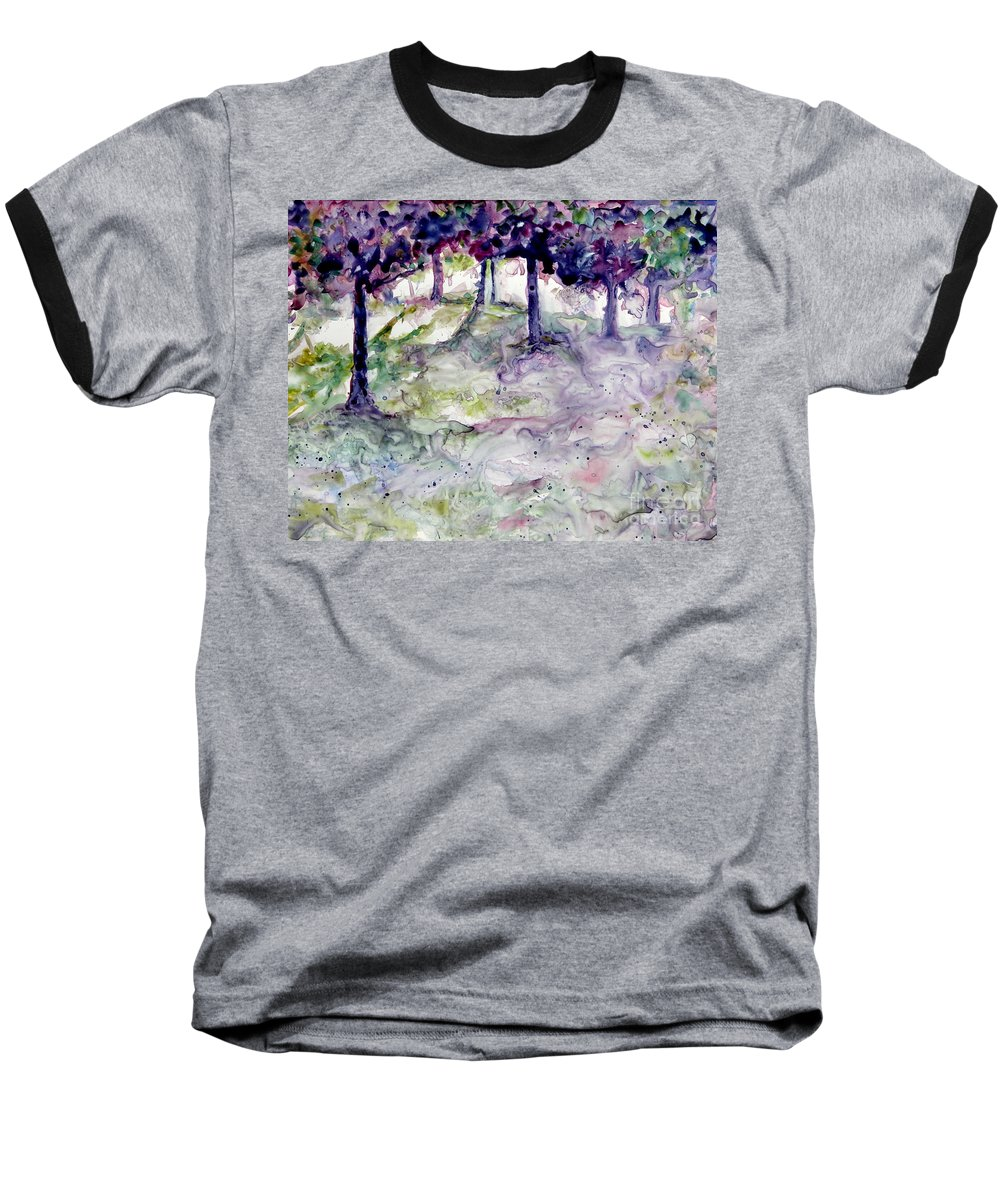 Fastasy Baseball T-Shirt featuring the painting Forest Fantasy by Jan Bennicoff