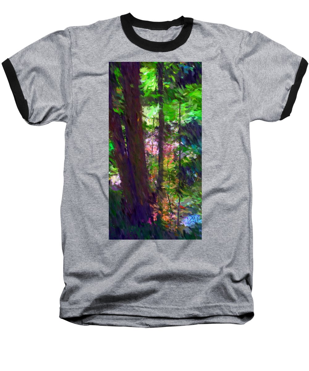 Digital Photography Baseball T-Shirt featuring the digital art Forest For The Trees by David Lane