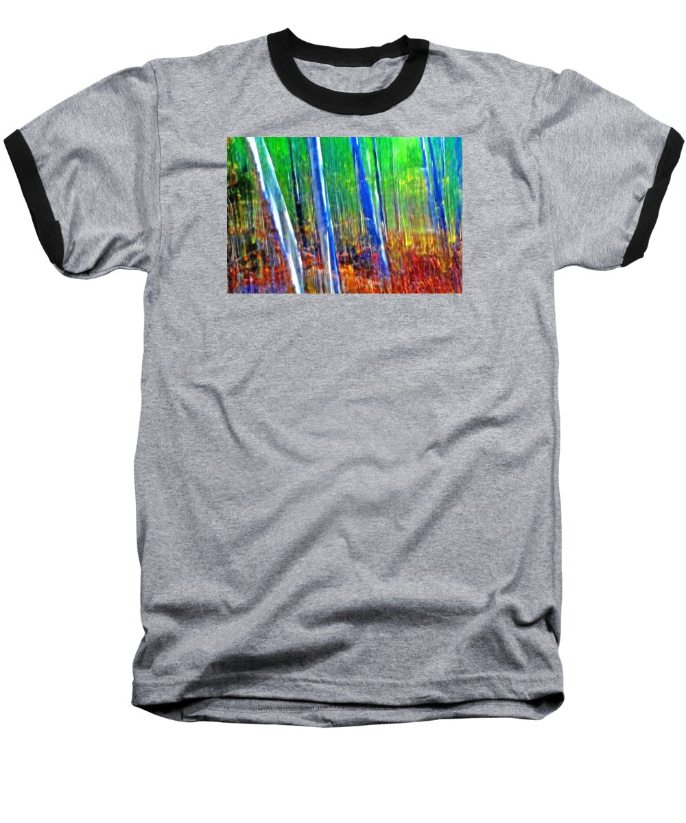 Forest Baseball T-Shirt featuring the photograph Forest Magic by Bill Morgenstern