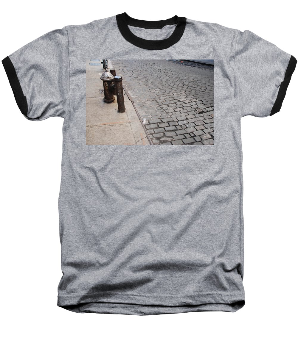 Architecture Baseball T-Shirt featuring the photograph Forgotten N Y by Rob Hans