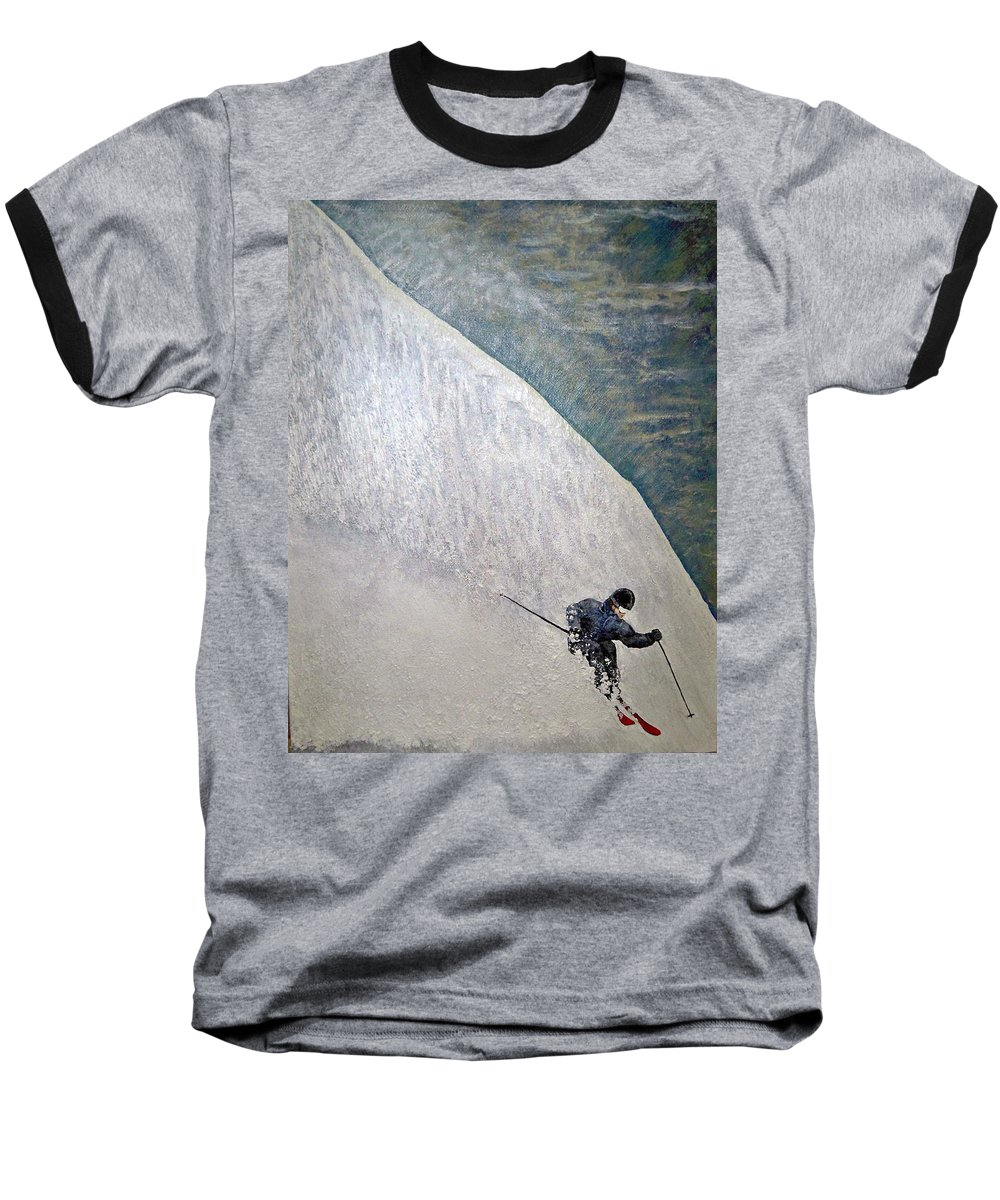 Landscape Baseball T-Shirt featuring the painting Form by Michael Cuozzo