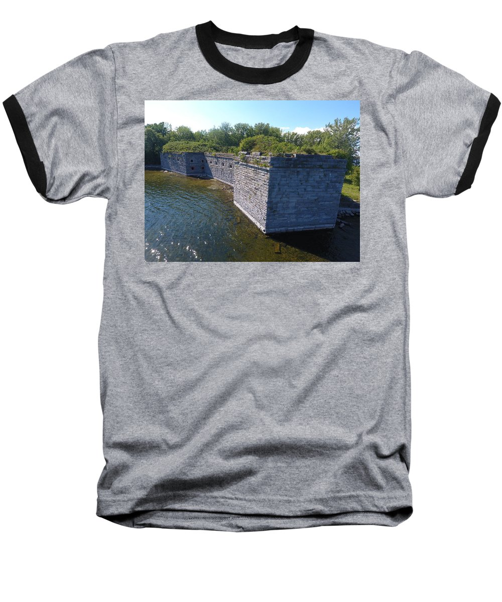 Fort Baseball T-Shirt featuring the photograph Fort Montgomery Close by Jedidiah Thone