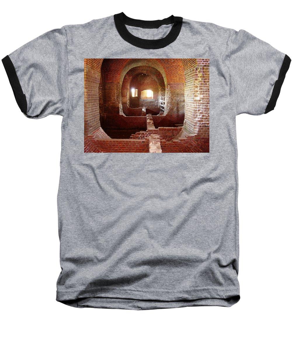 Fort Pulaski Baseball T-Shirt featuring the photograph Fort Pulaski I by Flavia Westerwelle