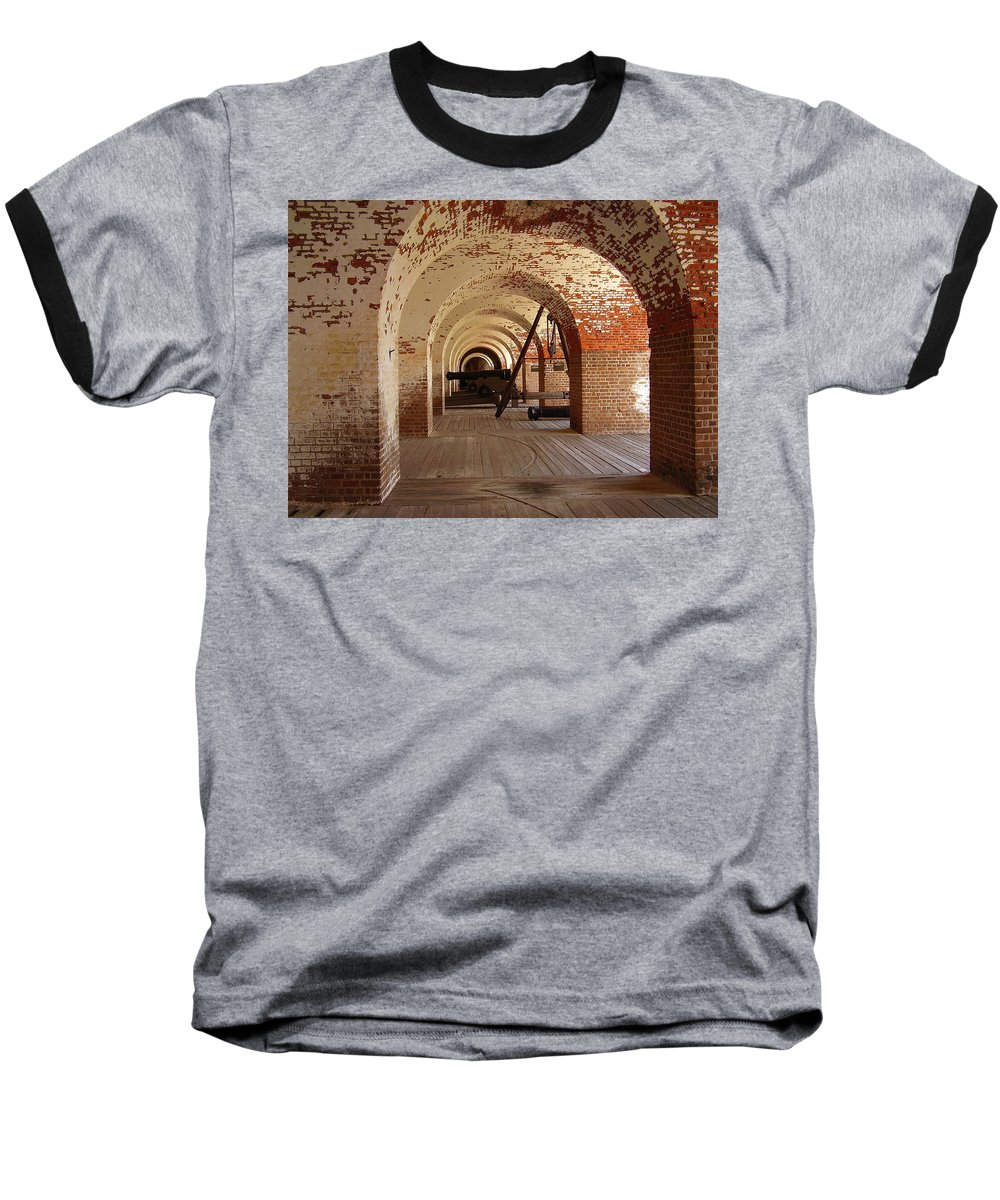 Fort Pulaski Baseball T-Shirt featuring the photograph Fort Pulaski II by Flavia Westerwelle
