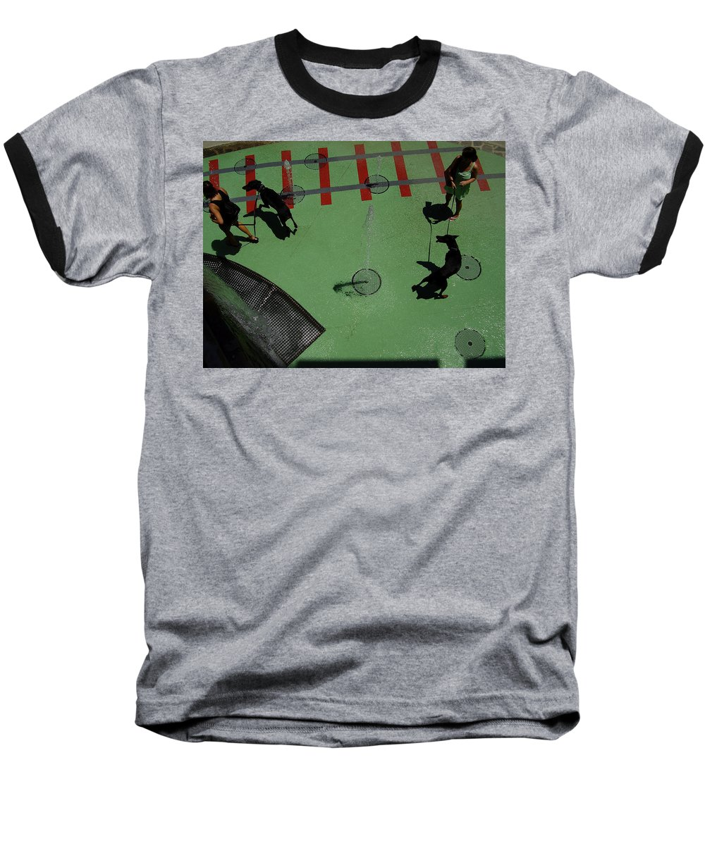 Fountain Baseball T-Shirt featuring the photograph Fountain by Flavia Westerwelle
