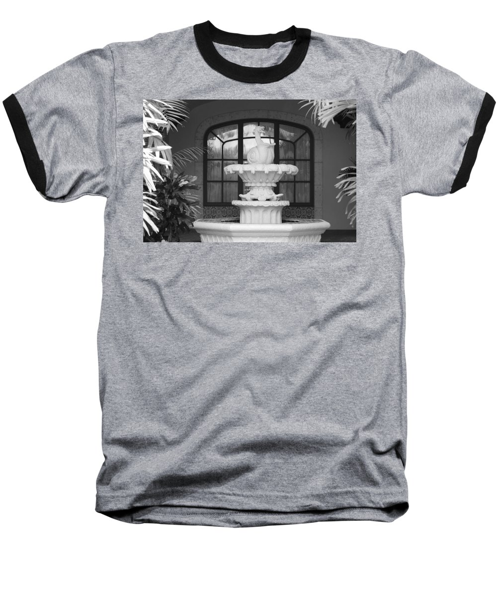 Architecture Baseball T-Shirt featuring the photograph Fountian And Window by Rob Hans