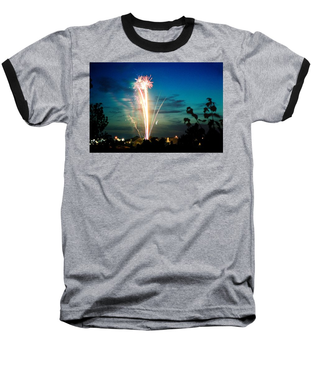 Landscape Baseball T-Shirt featuring the photograph Fourth Of July by Steve Karol