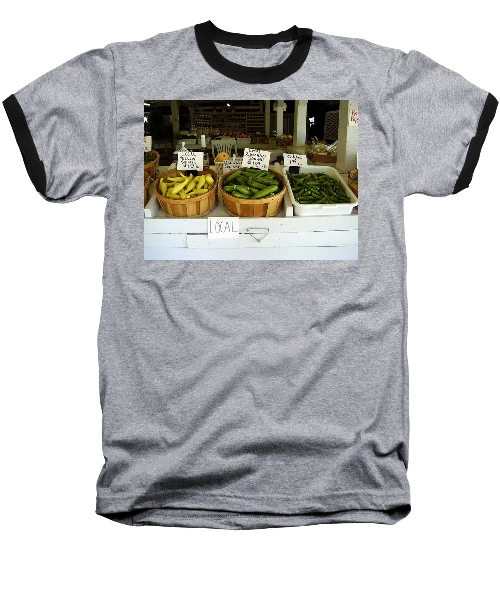 Fresh Produce Baseball T-Shirt featuring the photograph Fresh Produce by Flavia Westerwelle