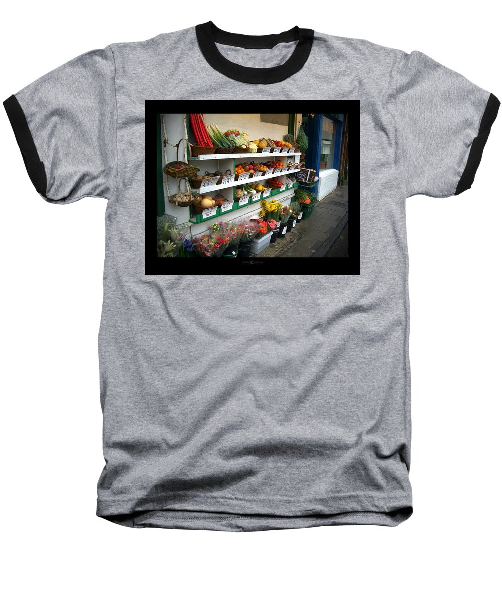 Shaftesbury Baseball T-Shirt featuring the photograph Fresh Produce by Tim Nyberg