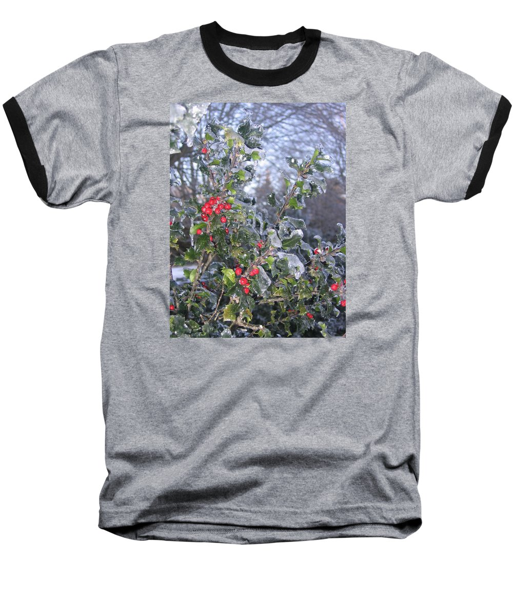 Winter Baseball T-Shirt featuring the photograph Frozen In Time by Paula Emery