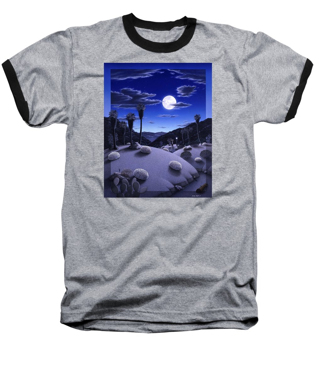 Desert Baseball T-Shirt featuring the painting Full Moon Rising by Snake Jagger
