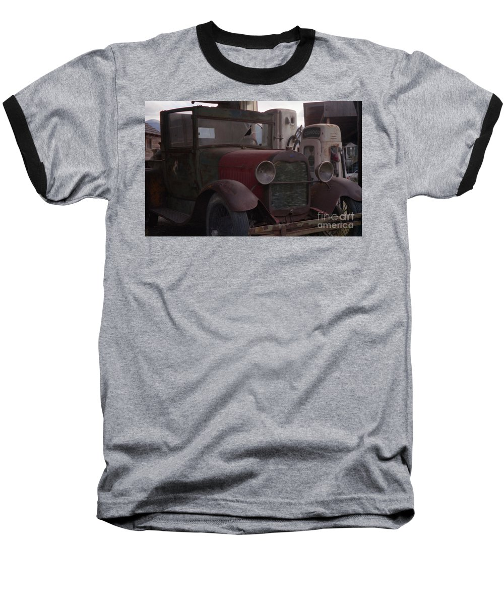 Gas Station Baseball T-Shirt featuring the photograph Full Service by Richard Rizzo