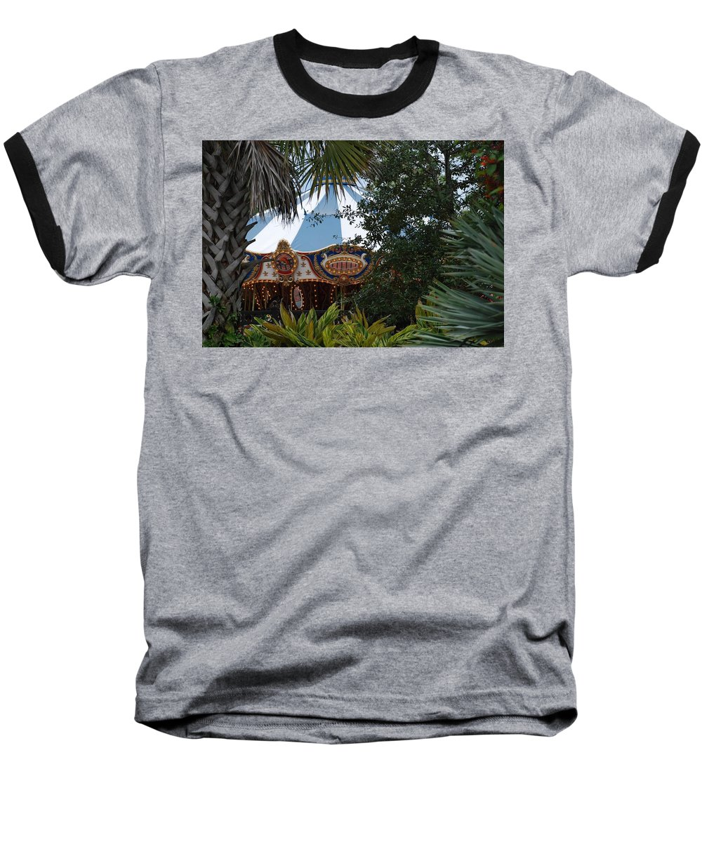 Architecture Baseball T-Shirt featuring the photograph Fun Thru The Trees by Rob Hans