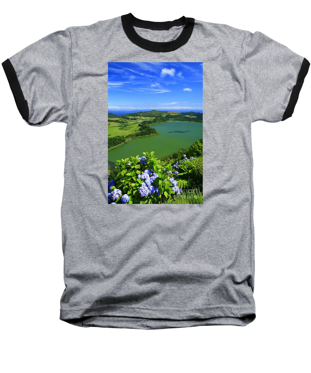Azores Baseball T-Shirt featuring the photograph Furnas Lake by Gaspar Avila