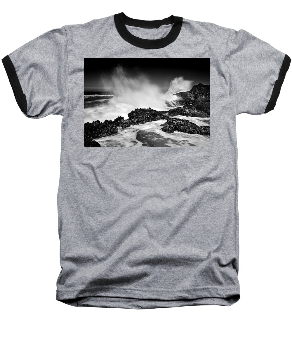 Waves Baseball T-Shirt featuring the photograph Fury by Mike Dawson
