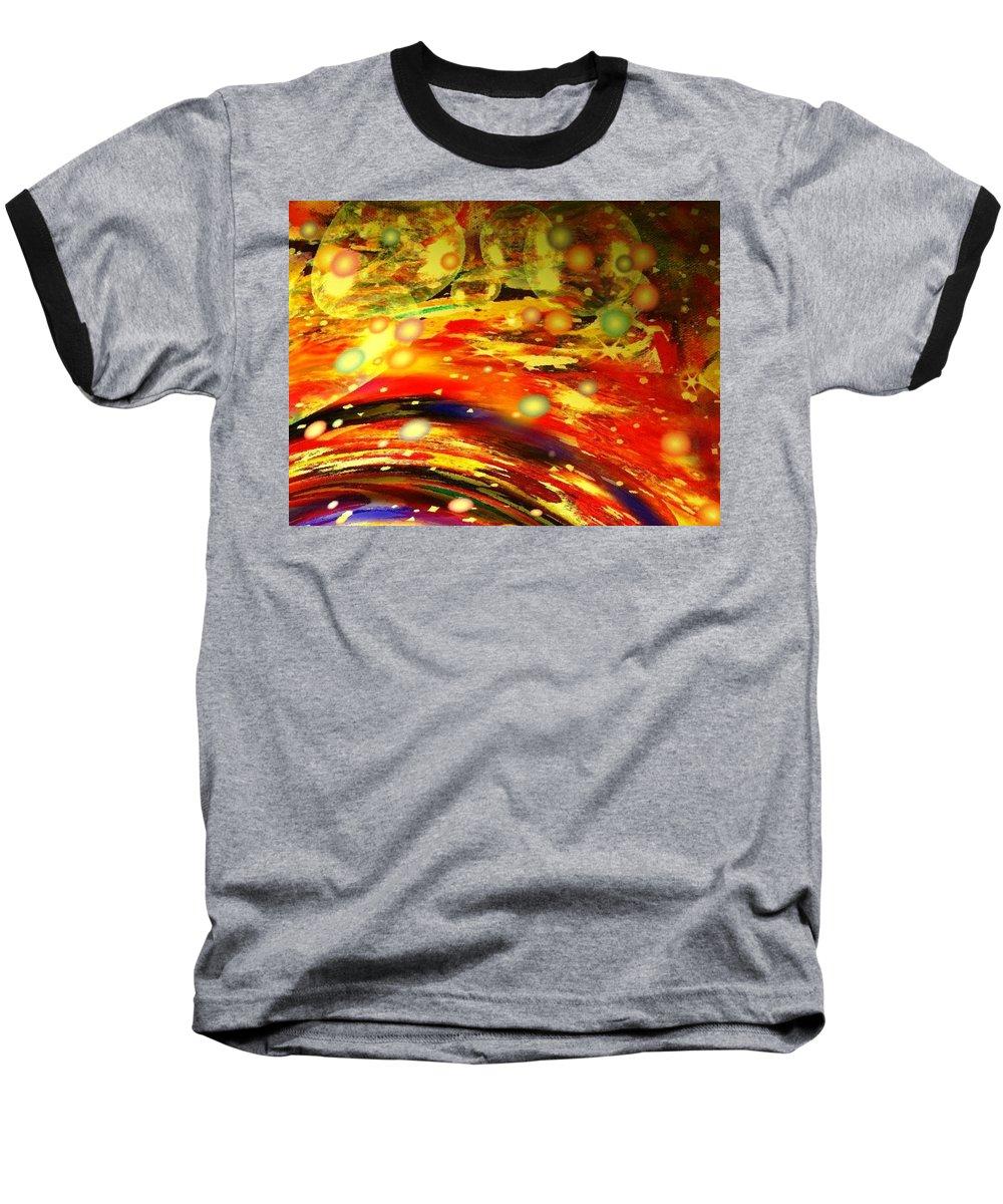 Galaxy Baseball T-Shirt featuring the digital art Galaxy by Natalie Holland
