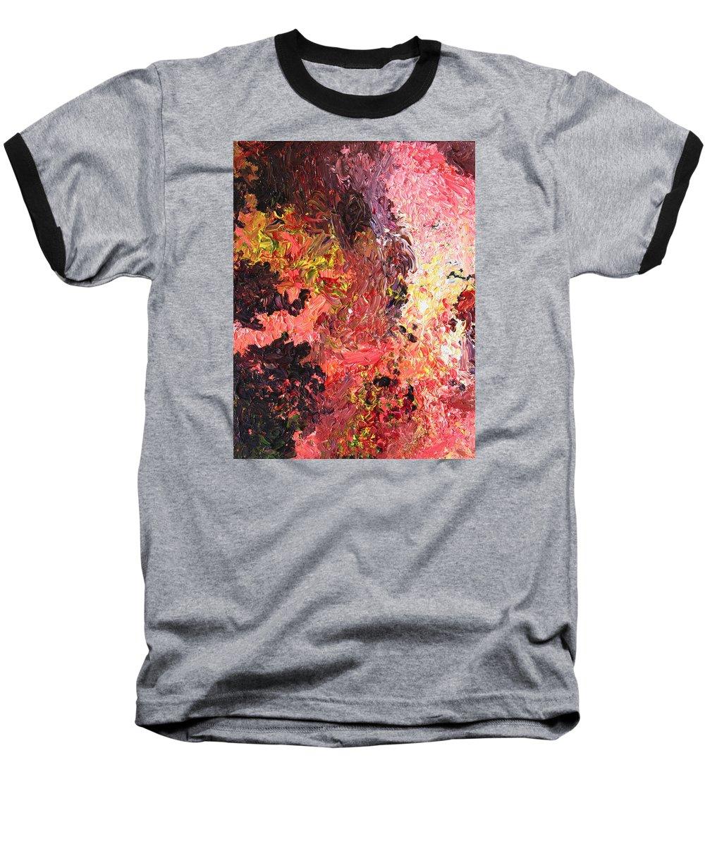 Fusionart Baseball T-Shirt featuring the painting Ganesh In The Garden by Ralph White