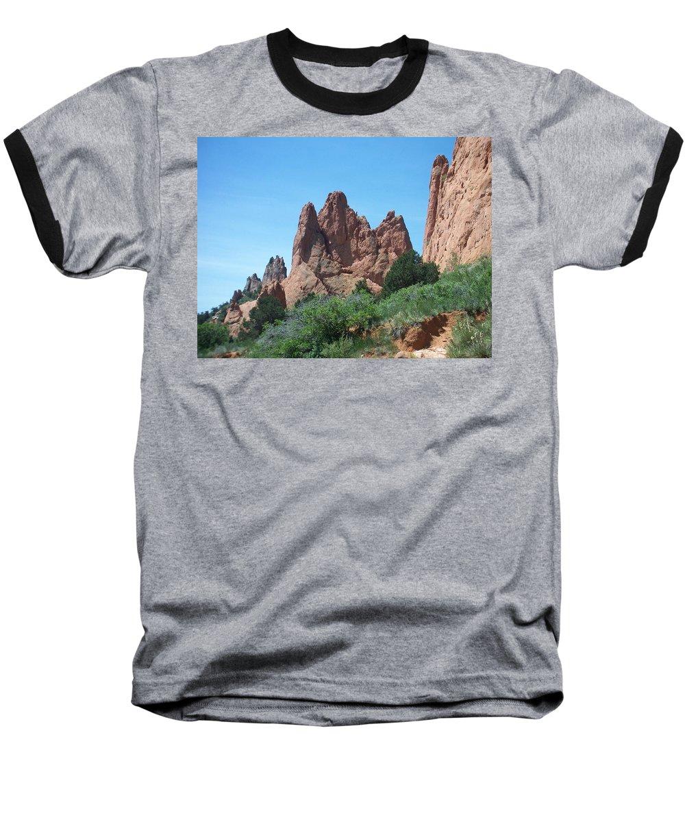 Colorado Baseball T-Shirt featuring the photograph Garden Of The Gods 2 by Anita Burgermeister