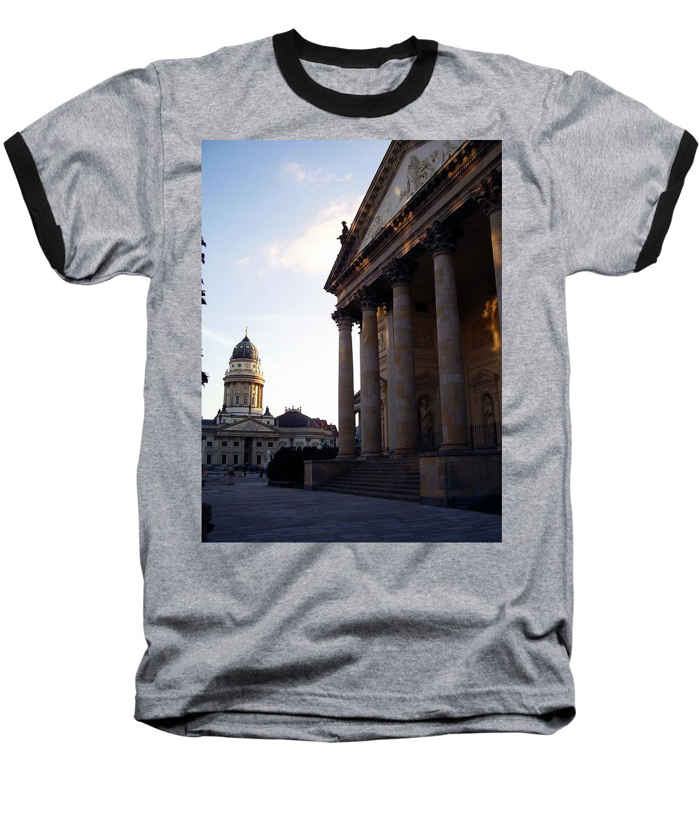 Gendarmenmarkt Baseball T-Shirt featuring the photograph Gendarmenmarkt by Flavia Westerwelle