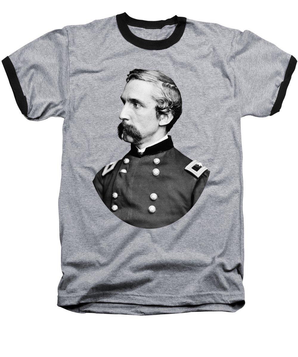Joshua Lawrence Chamberlain Baseball T-Shirt featuring the photograph General Joshua Chamberlain by War Is Hell Store