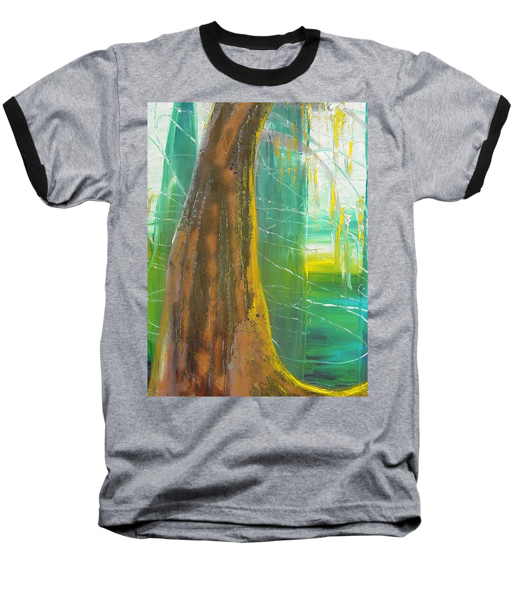 Landscape Baseball T-Shirt featuring the painting Georgia Morning by Peggy Blood