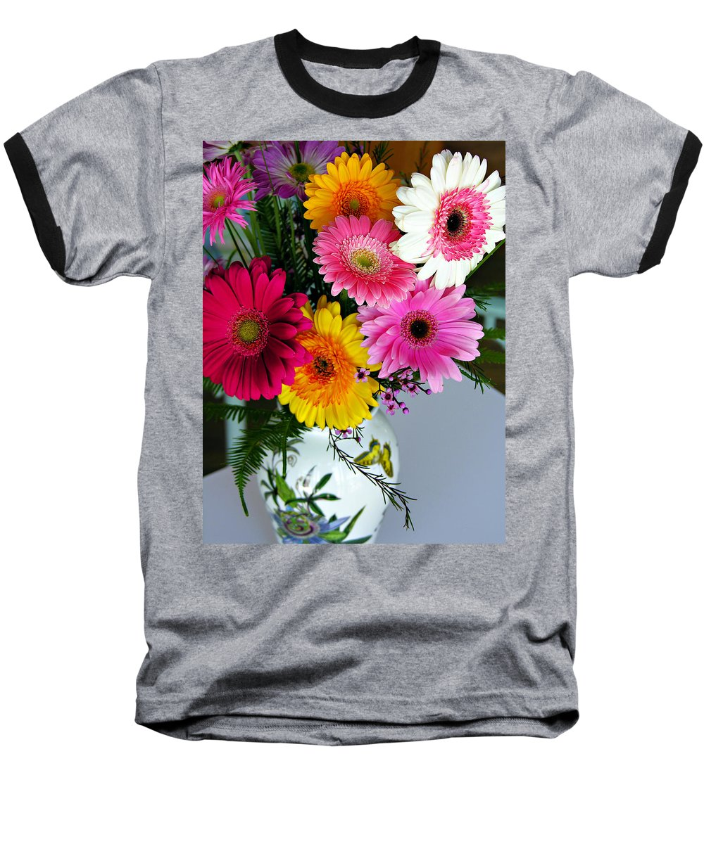 Flower Baseball T-Shirt featuring the photograph Gerbera Daisy Bouquet by Marilyn Hunt