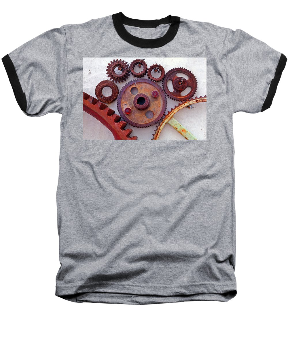 Gears Baseball T-Shirt featuring the photograph Ghost by Skip Hunt