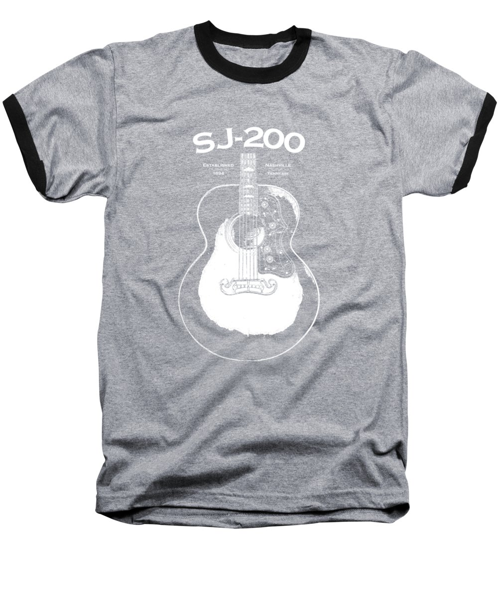 Gibson Sj-200 Baseball T-Shirt featuring the photograph Gibson Sj-200 1948 by Mark Rogan